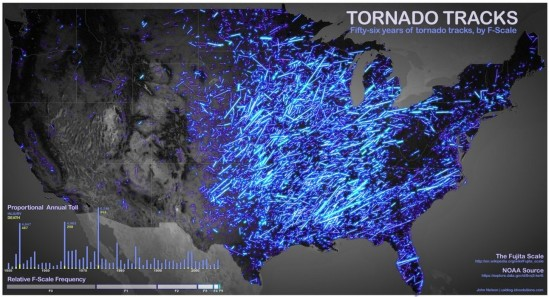 56 years of tornadoes