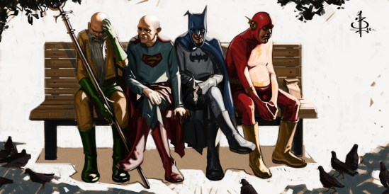 Bryan-Lee-we-were-heroes-superman-batman-flash-aquaman-ninjapizzaburgers-btank-DC-comics