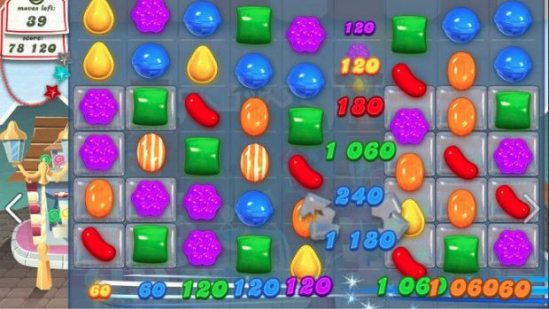 A screen image of the Candy Crush Saga game. (King)
