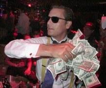 Scott Disick throws money on crowd, swings fake axe at friend at Halloween bash in Las Vegas!